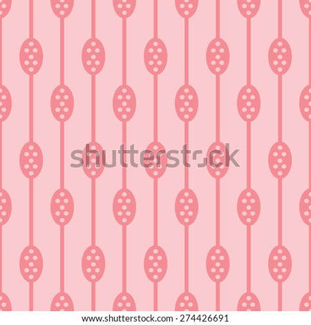 Abstract seamless texture. Striped pattern with circles and ovals. - stock vector