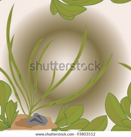 Abstract seamless texture with underwater plants - stock vector
