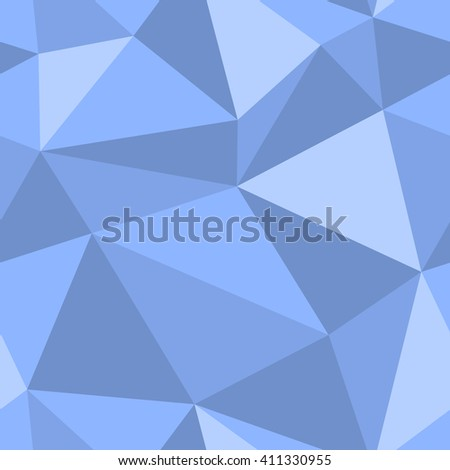 Abstract seamless triangle pattern. Light and dark blue triangles for background or wallpaper. Geometric seamless triangle pattern. - stock vector