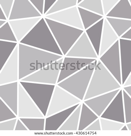 Abstract Seamless Triangle Pattern Light And Dark Grey For Background Or Wallpaper