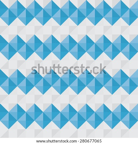 Abstract seamless vector pattern. Blue and gray squares
