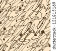 Abstract seamless vintage hand write pattern - stock vector