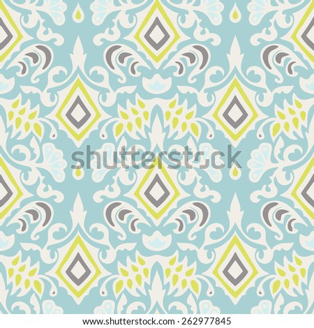 Abstract seamless vintage luxury ornamental vector pattern for fabric - stock vector