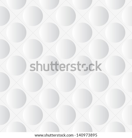 Abstract seamless white background with circles, eps10 - stock vector