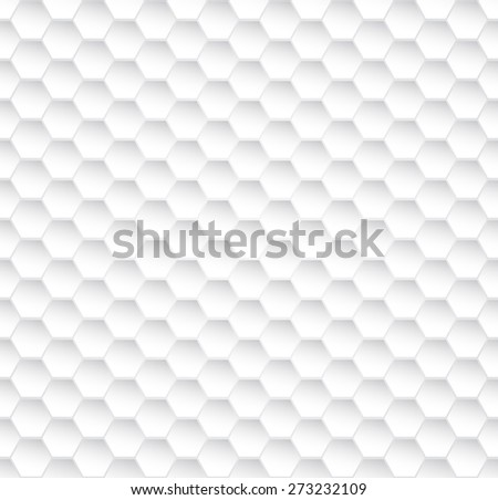 Abstract seamless white honeycomb vector texture. - stock vector