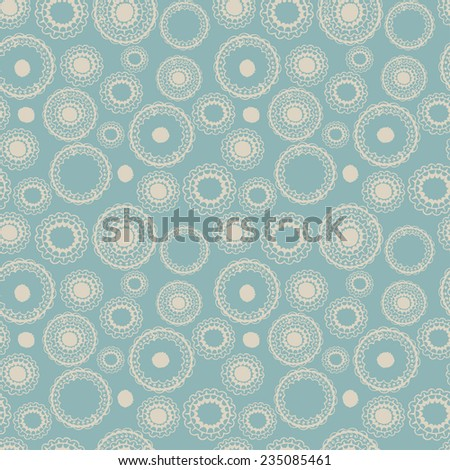 Abstract seamless winter background with snowflakes. Vector illustration - stock vector