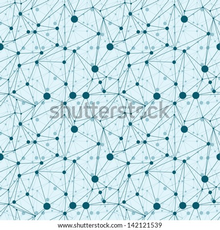 abstract seanless geometrical background molecule structure. Vector illustration - stock vector