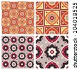 abstract set of colorful seamless geometrical patterns - arabesque.  Decorative vector backgrounds. - stock vector
