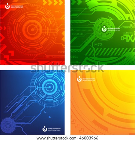 Abstract set of techno vectors. eps10
