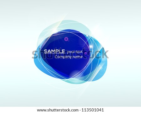 Abstract shape blue banner