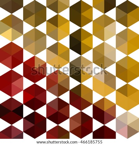 Abstract shape geometric background with hexagons and and triangles