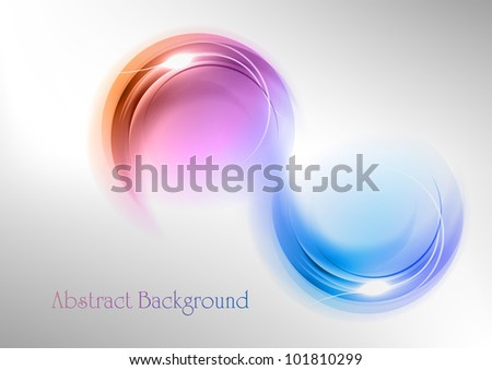 abstract shape on the white and grey background - stock vector