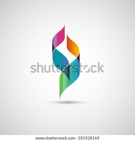 Abstract shape, ribbons, eps10 vector - stock vector