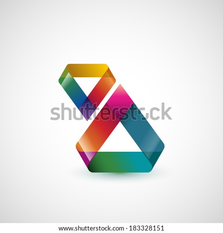 Abstract shape, triangle, eps10 vector - stock vector