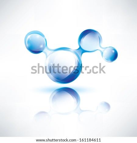 abstract shape, water color icon, technology concept - stock vector