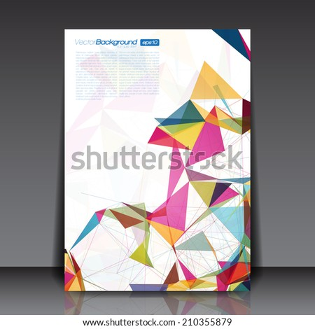 Abstract Shapes - Business Flyer Template Vector Design - stock vector