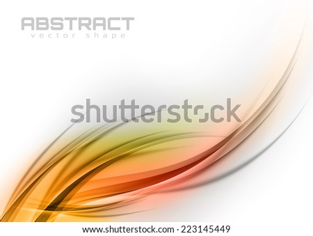 Abstract shapes in the orange colors. Vector design elements.  - stock vector