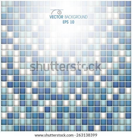 Abstract shapes of the cells in the form of squares - stock vector