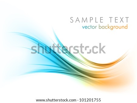 abstract shapes on the white background - stock vector