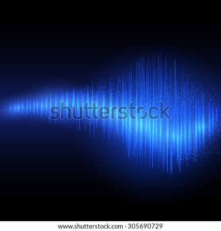 Abstract shining equalizer waveform. Vector illustration EPS10