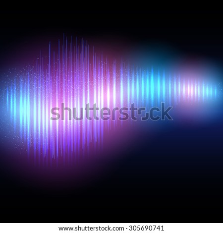 Abstract shining equalizer waveform. Vector illustration EPS10 - stock vector