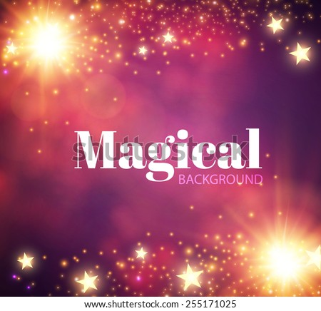 Abstract shining magic background. Vector illustration - stock vector