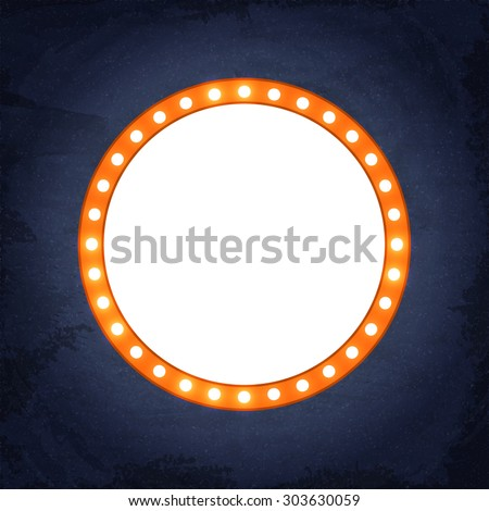 Abstract shining retro light banner on the chalkboard background. Vector EPS10 - stock vector