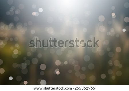 Abstract shiny background with bokeh and sunrays - vector illustration - stock vector