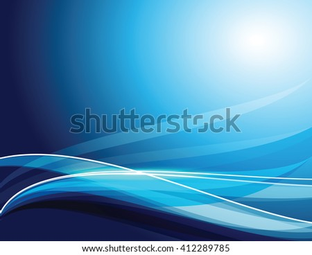 Abstract Shiny Blue Background. Vector Illustration.