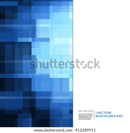 Abstract Shiny Blue Background. Vector Illustration. - stock vector