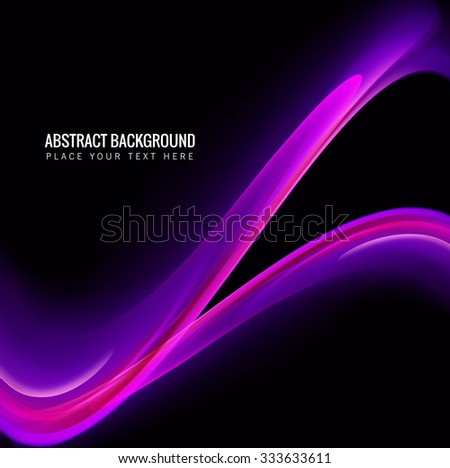 abstract shiny colorful technology wave background vector - stock vector