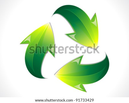 abstract shiny eco recycle icon vector illustration