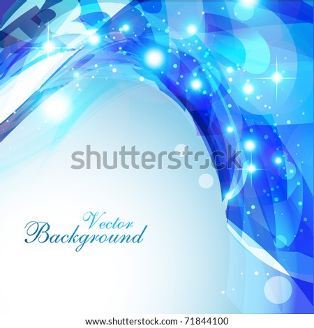 abstract shiny eps10 blue color background - stock vector