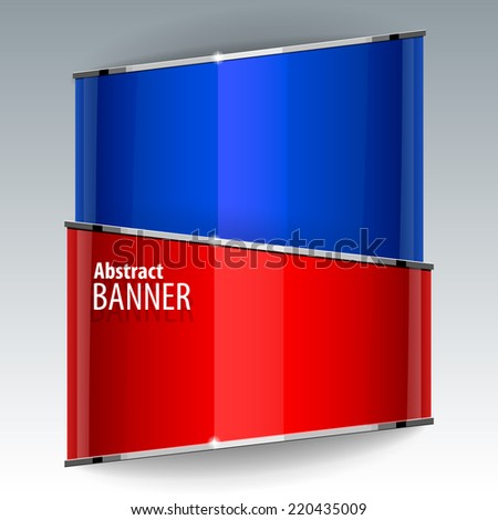 Abstract Shiny gloss red vector banner. eps 10 - stock vector