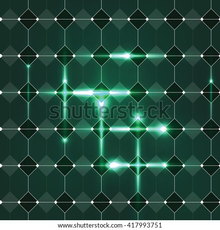 Abstract Shiny Green Background. Vector Illustration.