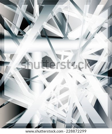 Abstract shiny modern shapes background