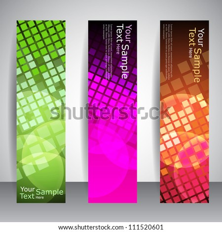 Abstract shiny modern vector banners - stock vector