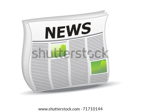 abstract shiny news icon vector illustration - stock vector