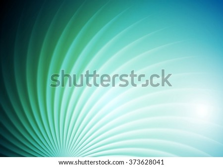Abstract shiny swirl blue green background. Vector graphic brochure design - stock vector