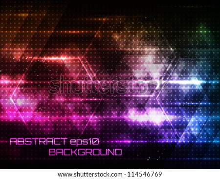 Abstract shiny technology background. Vector illustration. - stock vector