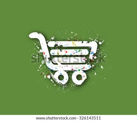 Abstract Shopping Icon Design, eps10 vector - stock vector