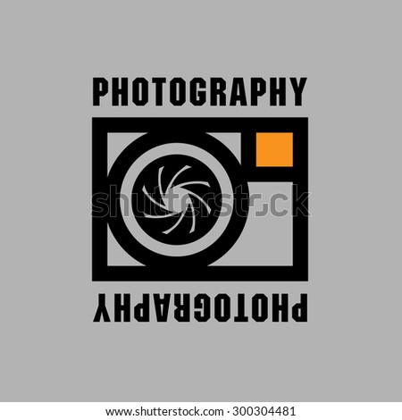 Abstract sign with the words Photography, vector illustration - stock vector