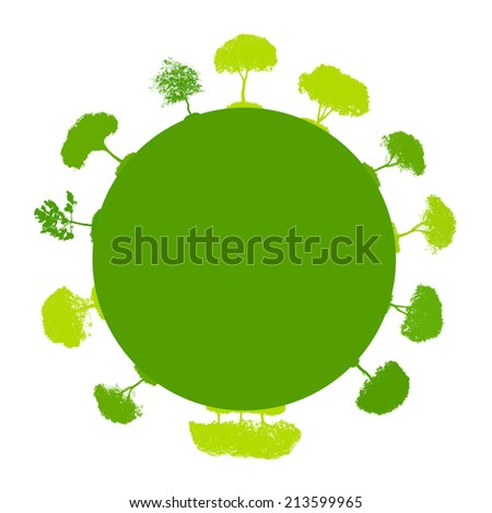 Abstract Silhouette Tree. Vector Illustration. EPS10
