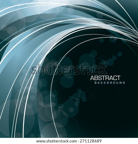Abstract silver background with wavy lines. - stock vector