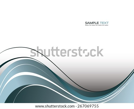 Abstract silver wavy background. - stock vector