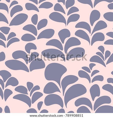 Abstract Simple Floral Background Seamless Pattern For Wallpaper Design