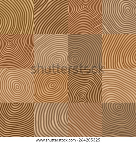 Abstract simple geometric wooden like vector pattern -  background for design Eps8 - stock vector