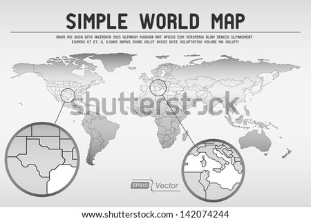 Abstract simple world map eps 10 vector stock vector 142074244 abstract simple world map eps10 vector design gumiabroncs Images