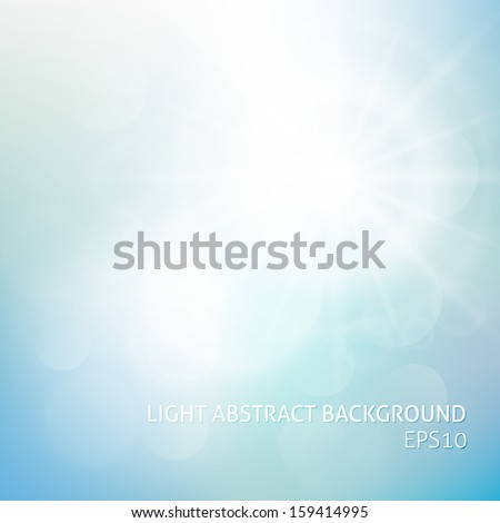 Abstract sky background with summer sun burst. Vector illustration - stock vector