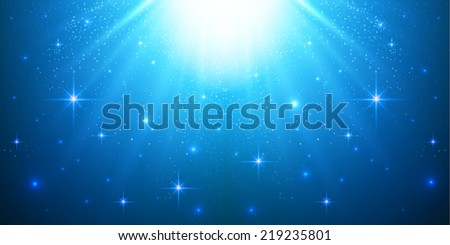 Abstract sky & stars background. Vector illustration.  - stock vector